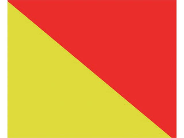 Talamex Buchstabenwimpel Abm. 30 x 36 cm Signalflagge O