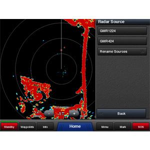 Garmin GMR 424 xHD2-Open-Array-Radargerät und Standfuß