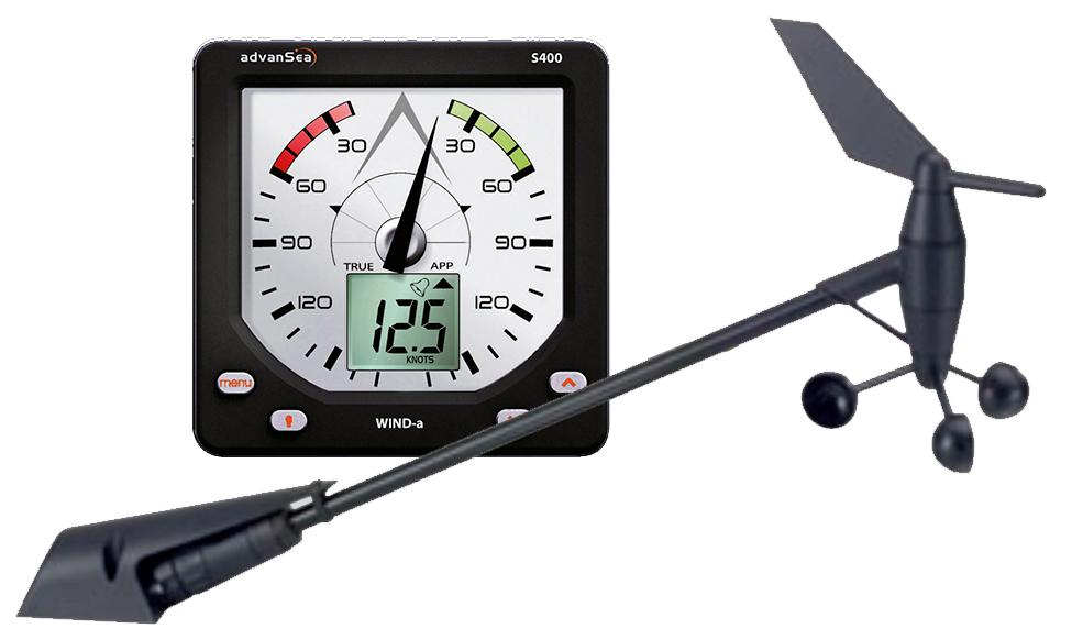 AdvanSea S400-a WIND analog Display mit Masttopeinheit und Kabel