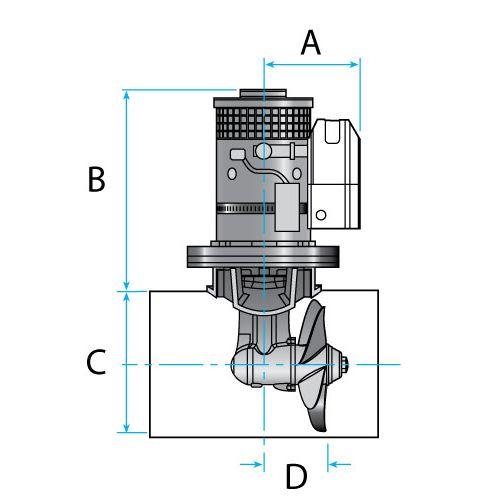 Lewmar Bugstrahlruder Set 125 TT (Kit) 2.0kW 12V 35kgf