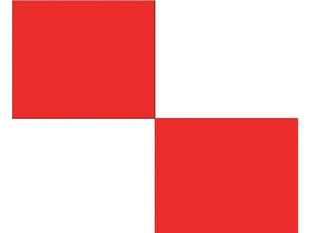 Talamex Buchstabenwimpel Abm. 30 x 36 cm Signalflagge U