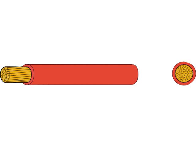 AutoMarine Gleichstrom Montage Kabel Mantel rot