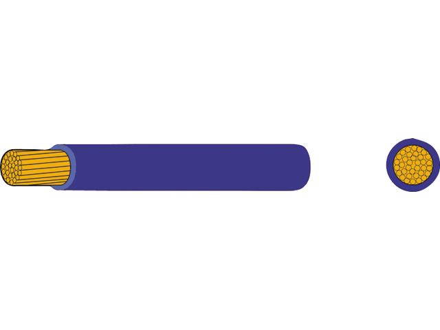 AutoMarine Gleichstrom Montage Kabel Mantel blau