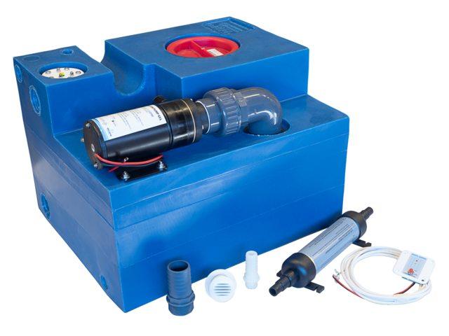 Albin Abwassertank System mit Zerhackerpumpe 47l mit 24V