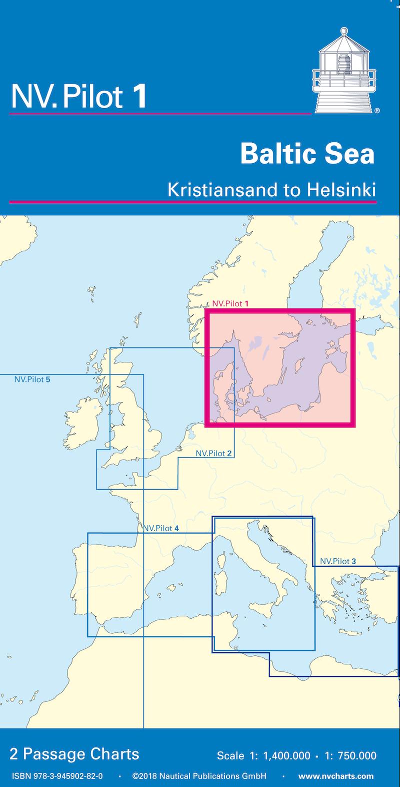 NV Pilot 1 - Lotsenkarte Baltic - Kristiansand bis Helsinki
