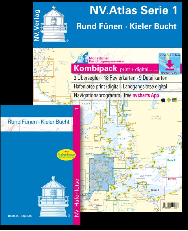 NV Kombipack Atlas Serie 1 Rund Fünen Kieler Bucht