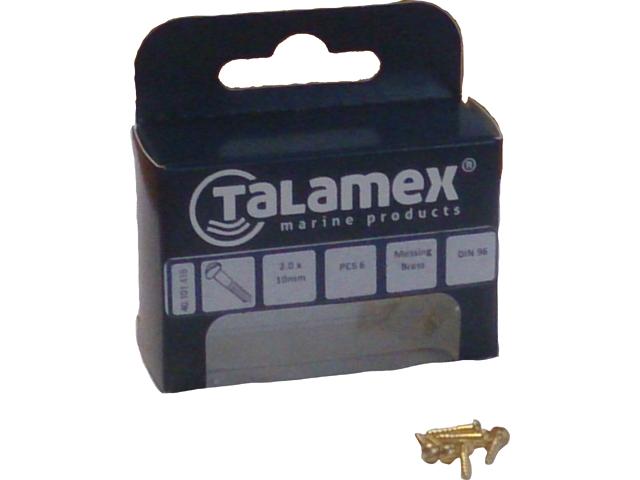 Talamex Messing Holzschraube Rundkopf mit Schlitz DIN96 (versch. Größen)