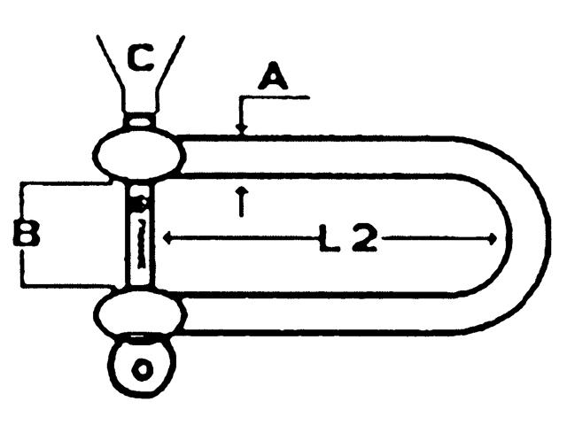 Talamex Schäkel Form D lang - Augbolzen