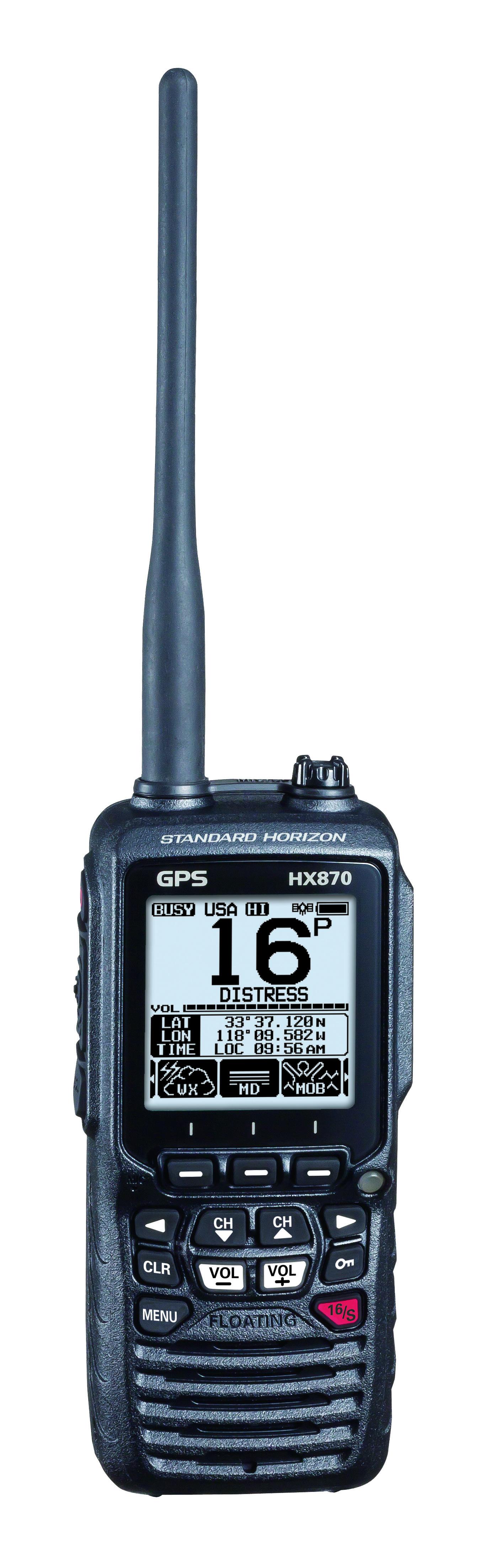 Standard Horizon HX870E Handfunkgerät mit integriertem GPS Front