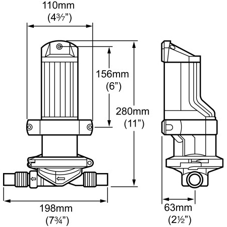 Whale Elektrische Bilgepumpe Gulper IC (verschiedene Typen)
