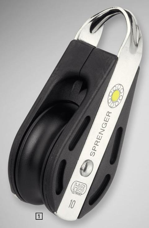 Sprenger 10mm S-Block Gleitlager 1 Rolle, durchgehender Bügel
