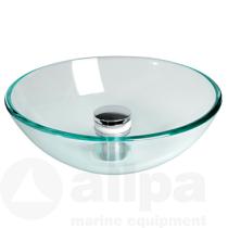 allpa Spülbecken Glas ohne Abfluß (verschiedene Größen)