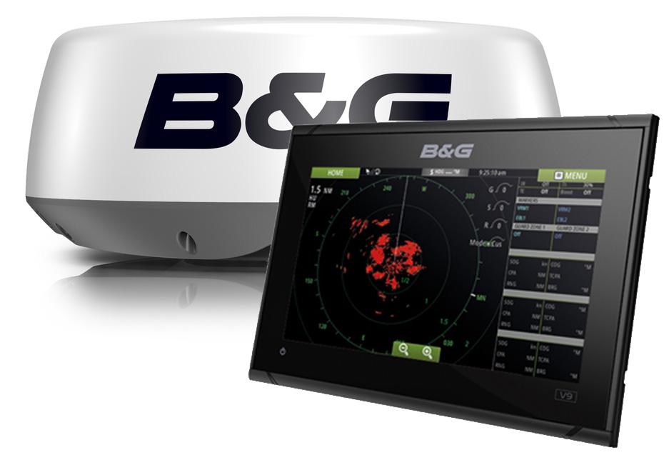 B&G Vulcan9 GPS Kartenplotter Halo20 Radar Bundle