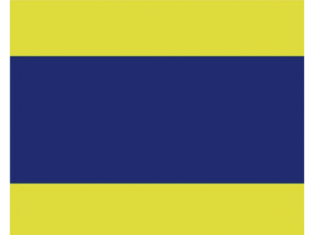 Talamex Buchstabenwimpel Abm. 30 x 36 cm Signalflagge D