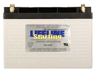 Lifeline GPL-3100T AGM Batterie 100 Ah