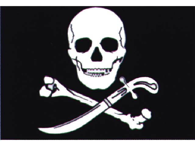 Talamex Spassflagge 30 x 45 cm Pirat