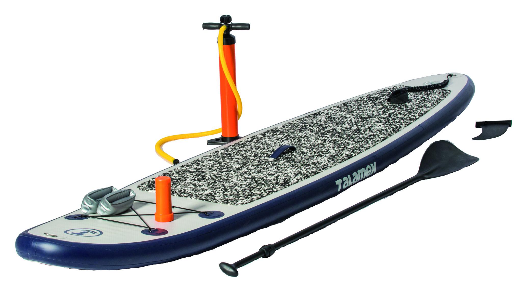 Talamex SUP 320 Board Set mit Paddel und Fußpumpe