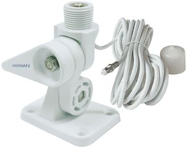 Navico Nylon 4-Wege Antennenkippfuß mit QuickFit System und 5m Kabel