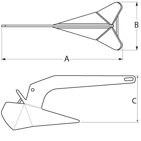 DC Anker aus Stahl feuerverzinkt (versch. Größen)