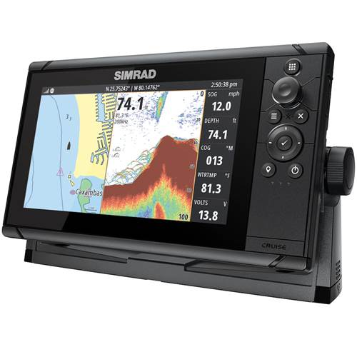 Simrad Cruise 9 GPS Kartenplotter Echolot mit Geber
