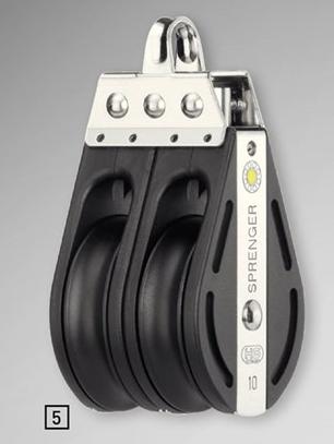 Sprenger 10mm S-Block Gleitlager 2 Rollen mit durchgehendem Bügel