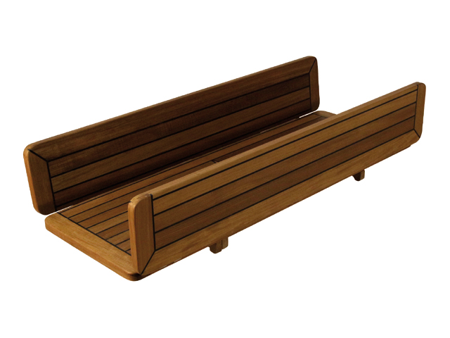 Talamex Teak Tischplatte Wing 34/68x60cm klappbar