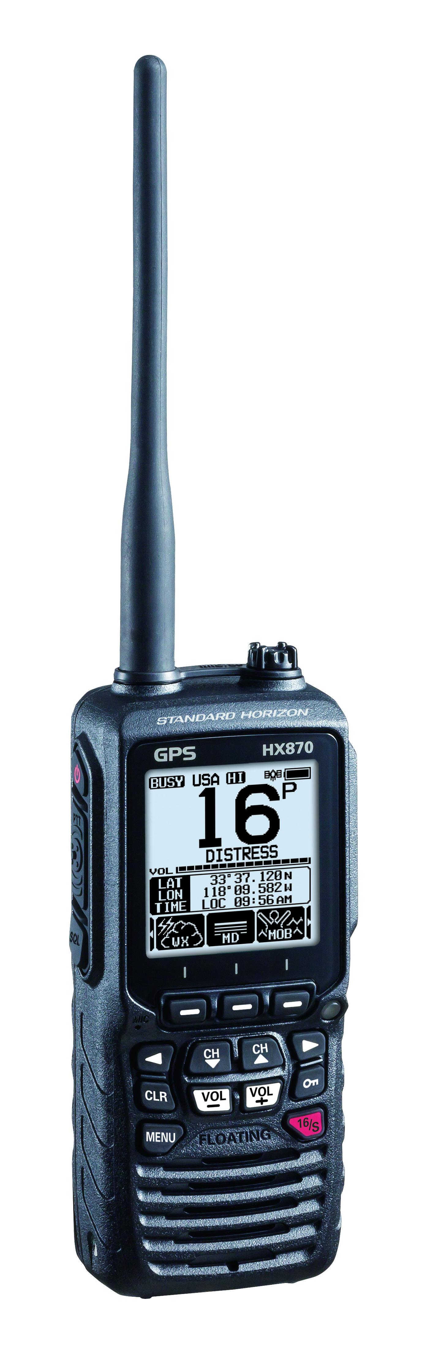 Standard Horizon HX870E Handfunkgerät mit integriertem GPS links Front
