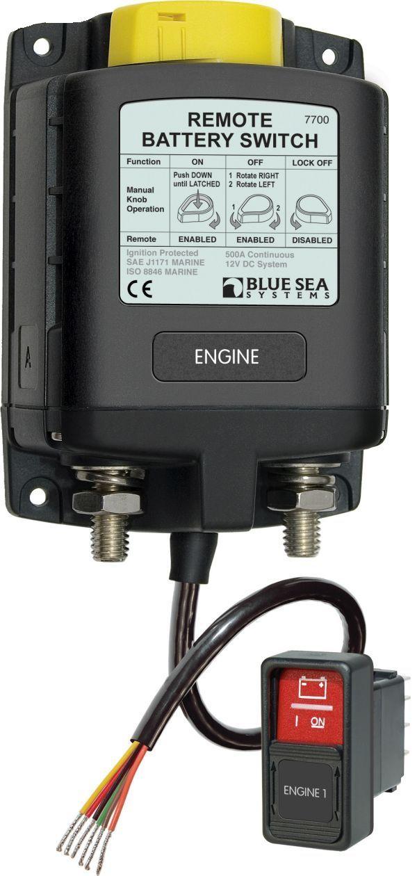 Blue Sea Fernsteuerbarer Batterie-Hauptschalter - 12V