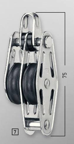 Sprenger 6mm Gleitlagerblock doppelt mit Bügel und Hundsfott