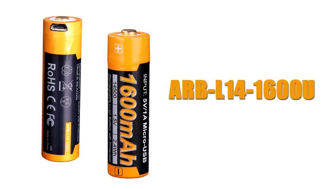 Fenix ARB-L14-1600U geschützter Mignon AA LR6 Li-Ionen USB Akku