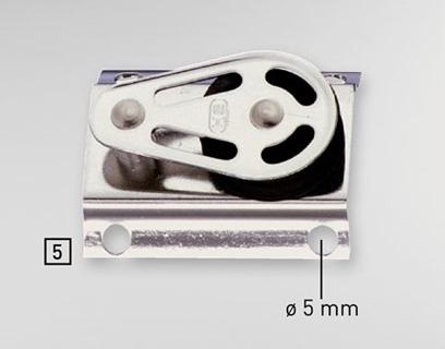 Sprenger 10mm Gleitlager Baumblock Seitenteile Edelstahl rostfrei