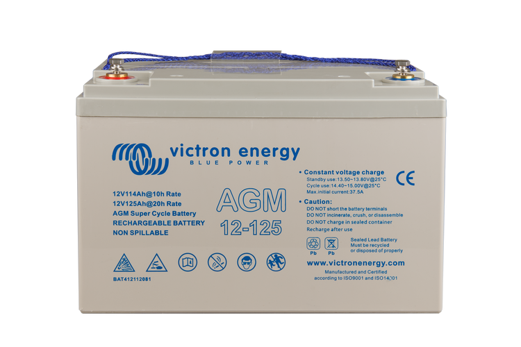 Victron 12V/125Ah AGM Super Cycle Batterie