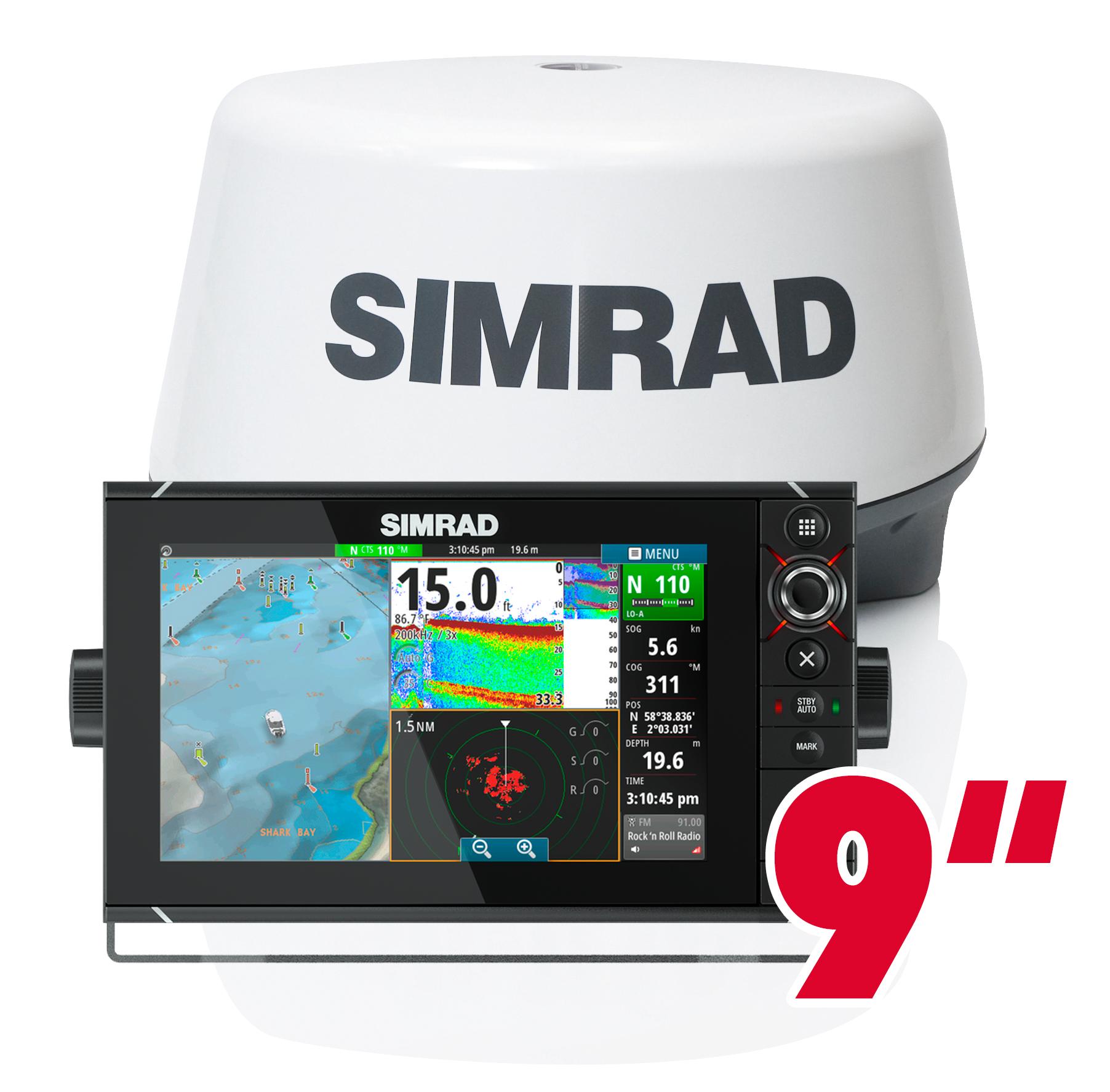 Simrad NSS9 evo2 GPS Kartenplotter Multifunktionsdisplay Radar 3G Bundle