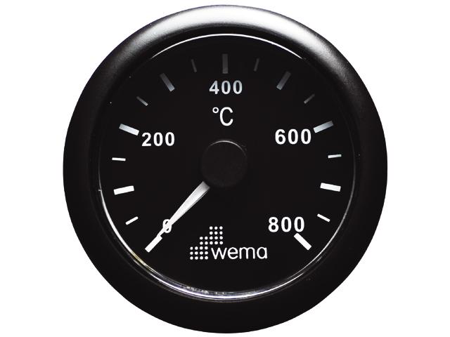 Wema Temperaturanzeige Auspuff schwarz