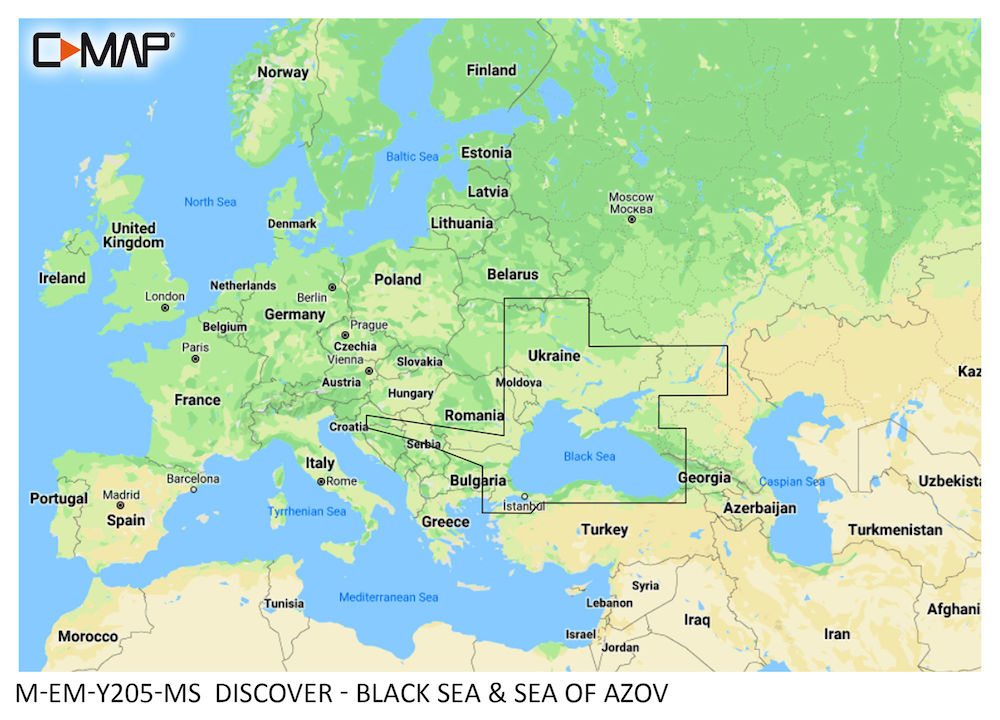 C-MAP DISCOVER:  M-EM-Y205-MS   Black Sea & Sea of Azov