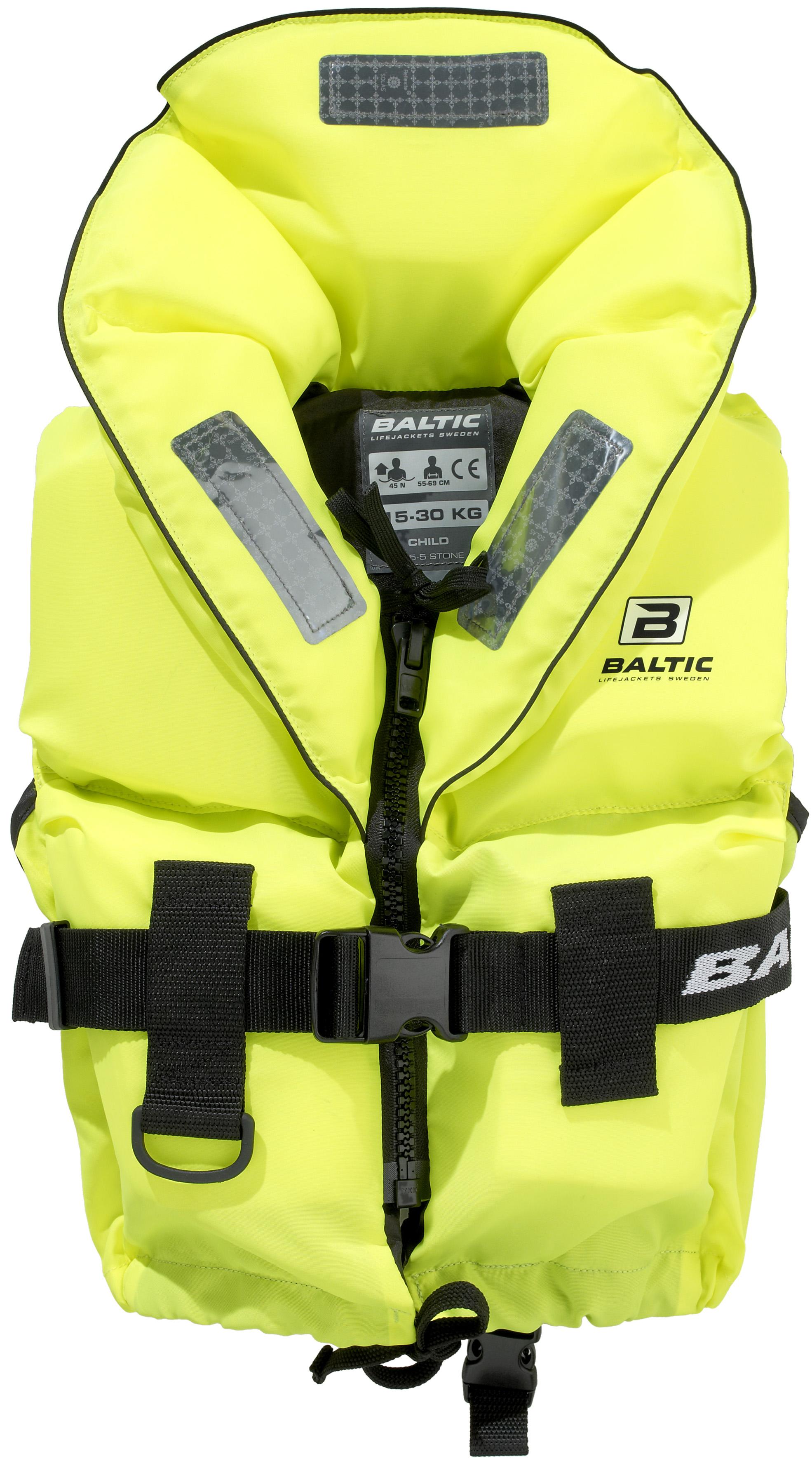 Baltic 1287 Sailor UV-Yellow Rettungsweste mit Schrittgurt verschiedene Ausführungen