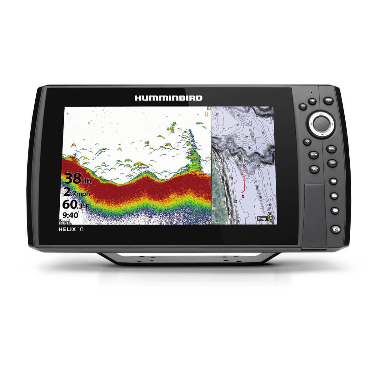 Humminbird HELIX 10 CHIRP GPS G3N mit Geber XNT-9-HW-T