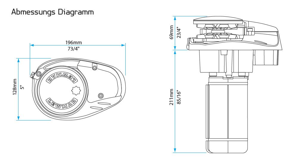 Lewmar Ankerwinde V700 Kettenspill 6mm Kit