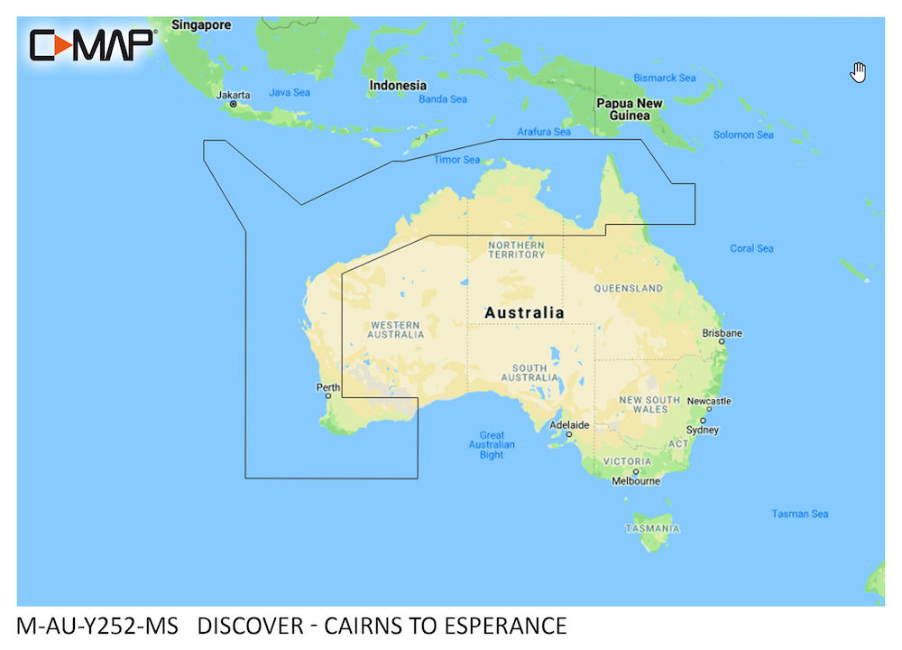 C-MAP DISCOVER:  M-AU-Y252-MS  Cairns to Esperance