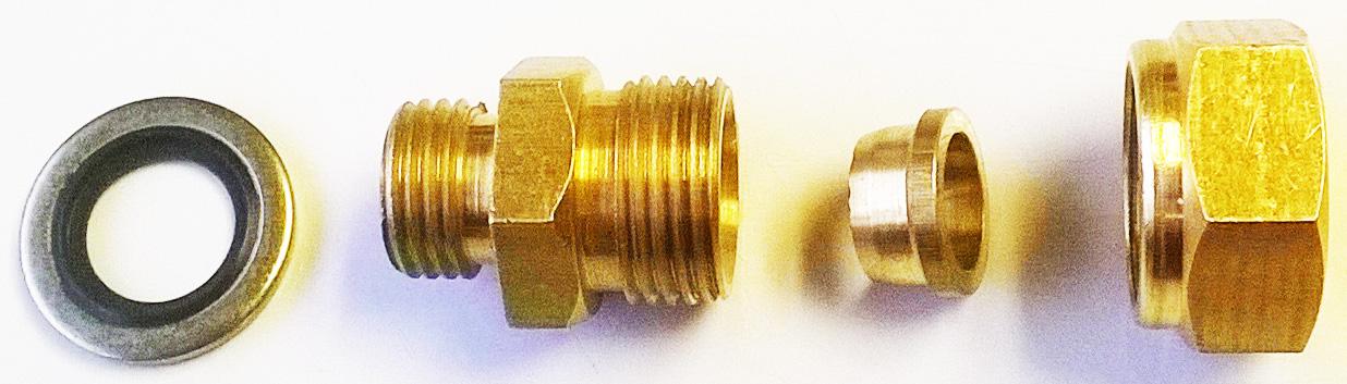 Hydraulik Adapter 1/4 BSP auf 5/8 BayStar SeaStar Hydraulik Leitung