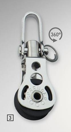 Sprenger 6mm Micro XS Block einfach mit Wirbel