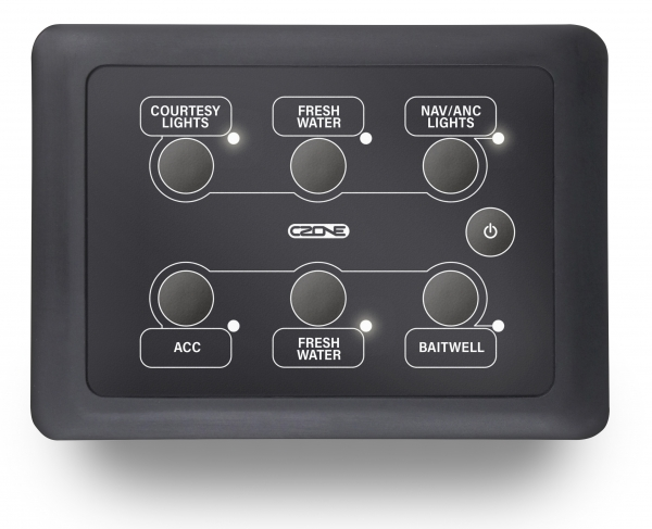CZone Waterproof Keypad 3x2 Querformat