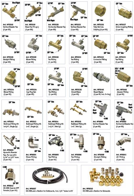 Seastar und Baystar Hydraulik Fittings (versch. Ausführungen)