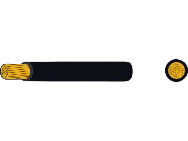AutoMarine Gleichstrom Montage Kabel Mantel schwarz