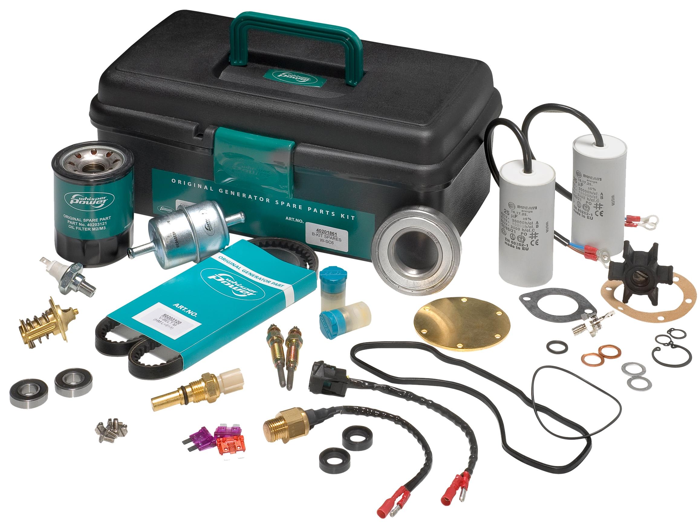 WhisperPower Service Kits für Stromgeneratoren (verschiedene Ausführungen)