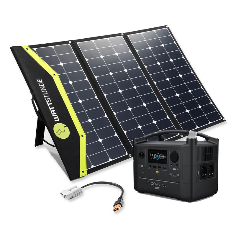 EcoFlow River 600 MAX Bundle mit SunFolder Solartasche SunFolder 180W