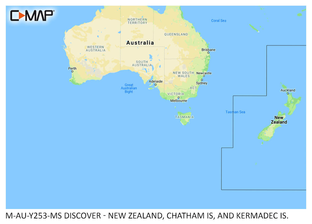 C-MAP DISCOVER:  M-AU-Y253-MS  New Zealand, Chatham Is, and Kermadec Is.