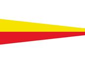Talamex Zahlenwimpel Abm. 25 x 88 cm Signalflagge 7 Seven