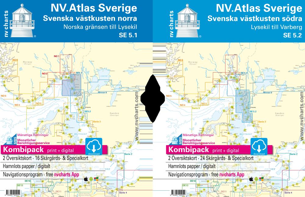 NV Atlas Kombipack Schwedische Westküste 5.1 und 5.2
