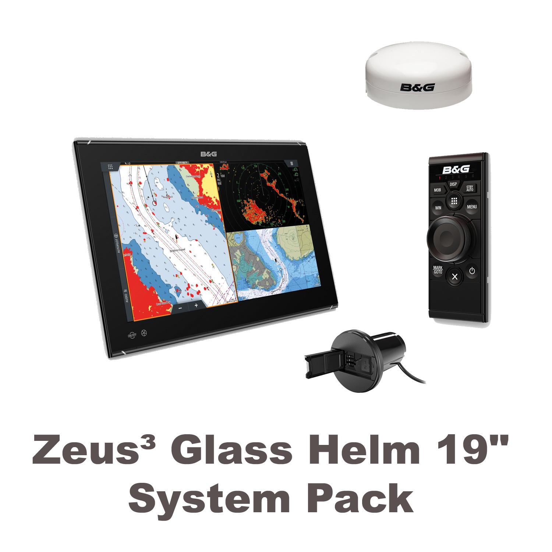 "B&G Zeus3 Glass Helm 19"" System Paket"